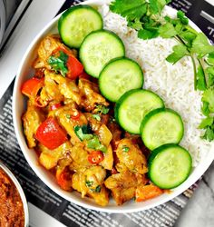 Satay Chicken Stir-Fry - Only 5 Ingredients - Fuss Free Cooking - also link to 3 ingredient satay paste