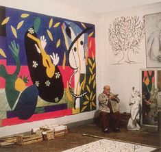 """pinkpagodastudio: Matisse- Cut-Outs--""""Painting with Scissors"""""""
