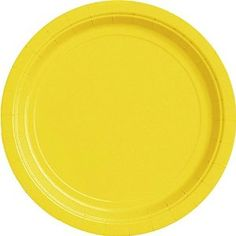 "Amazon.com: Custom & Unique {7"" Inch} 20 Count Multi-Pack Set of Medium Size Round Disposable Paper Plates w/ Single Colored Basic Simple Summer Time Party ""Sunny Yellow Colored"": Kitchen & Dining"