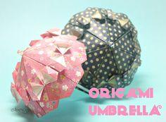タイトルはUmbrella(雨傘)となっていましたが、どちらかと言うととParasol(日傘)のイメージのほうが強いような気がします。 Cute Origami, Oragami, Origami Paper, Diy Paper, Paper Crafts, Diy Crafts, Origami Umbrella, Paper Clothes, Easter Art