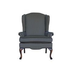 Image of Striped Wingback Chair