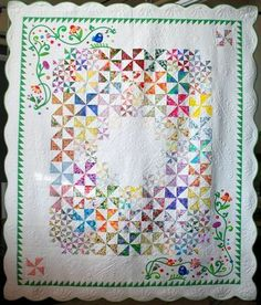 Carquinez Strait Stitchers 2013 Opportunity Quilt (love all these pinwheels in different sizes)