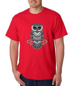 Night Owl Cute Animal Day Of Dead T-shirt Grunge Fashion Shirts 2XL Red a4. Cotton Blend Unisex T-Shirt. Love Unconditionally and Wear It Like You Mean It! Wash Inside out with cold water, Comfortable Modern Fit. Print may appear smaller on bigger sizes. Designed and printed in the United States. See our store for more great apparel! Great gift or for yourself! Perfect for birthdays, Christmas, Hanukkah, Valentine's Day, Anniversary, and everyday gift ideas.