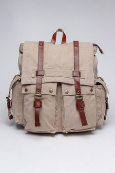 J. Campbell Washed Canvas Backpack - great for traveling!