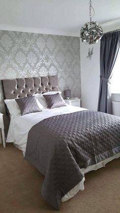 Silver damask wallpaper bedroom wallpapers 53 new ideas