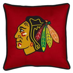 ATHLEZ - Chicago Blackhawks Sidelines Toss Pillow
