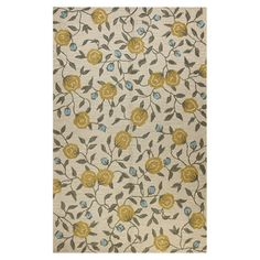 Ivory wool rug with a rosebud motif. Hand-tufted in India.  Product: RugConstruction Material: WoolC...