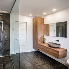 If you wish to add a bathroom in your house but possess a limited budget, mind for that basement. Bathroom Sink Design, Bathroom Cupboards, Bathroom Renos, Bathroom Inspo, Bathroom Renovations, Bathroom Interior, Modern Bathroom, Small Bathroom, Bathroom Assessories