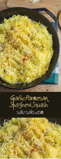 Garlic Parmesan Spaghetti Squash
