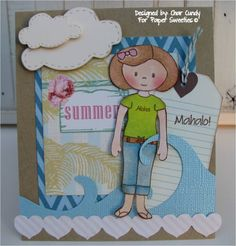 A card for Paper Sweeties using Mahalo and Sophie stamp set