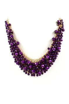 Lavender Cluster Necklace - This is a great idea with a vibrant color or multiple colors of the same bead! (Just a photo)