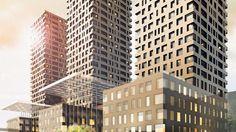 Drei neue Wahrzeichen für Zürich-West: Beim Bahnhof Altstetten wird bis 2018 ein Hochhausprojekt realisiert. Multi Story Building, Parisian