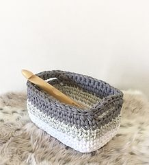 Ravelry: Ombre Rectangle Basket pattern by Jessica Venture
