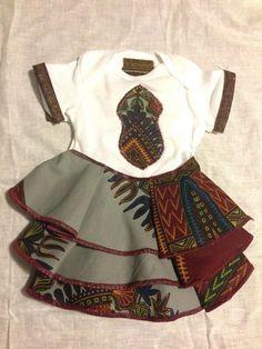 African Rose Onesies by J*Diza Clothing Co  #ChildrensWear #AfricanPrint #Onesies #BabyShower #Baby #Dashiki
