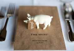 animal themes place cards..
