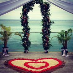 Wedding ceremony set up at Warwick Le Lagon Resort & Spa, Vanuatu Wedding Set Up, Wedding Ceremony, Wedding Stuff, Island Weddings, Vanuatu, Receptions, Resort Spa, Wedding Styles, Destination Wedding
