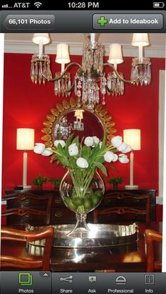 Traditional Dining Room Centerpieces Color Of