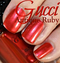Gucci Antique Ruby Nail Polish Swatches