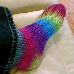 Ladder Stitch Crochet Socks pattern - who said socks have to be knitted?