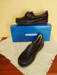 Clinic Shoes Champion Foot Thrills Leather Oxford 8.5M Black Classic Comfy #ClinicShoes #Oxfords