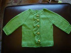 Leaf Baby Cardi - Free Knitting Pattern