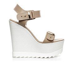 Code: 850G12 Heel height: 13 cm www.mourtzi.com #wedges #whitesole