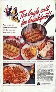 Vintage 1940 Fulle page advert Bacon by VeritasPhotography on Etsy, $10.00