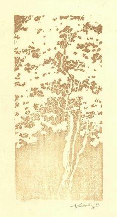 K Nakajima Woodblock Prints Funeral, Japanese style and Woodblock print on Pinterest