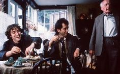 """Withnail and I - """"Miss Blennihazzard, telephone the police! Tell them there are a couple of drunks in The Pennrith Tearooms and we want them removed."""""""