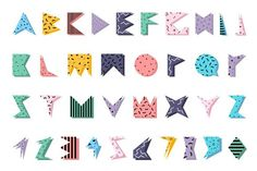 Color alphabet in memphis style.. Wedding Fonts. $6.00