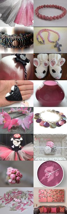 Pretty In Pink by Catz DiVirgilio on Etsy--Pinned with TreasuryPin.com #pinkgiftguide