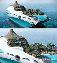 Island Yacht, Complete With Volcano