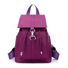 47.08$  Buy now - http://viieh.justgood.pw/vig/item.php?t=vazo3w34524 - Womens Backpack Nylon teenage backpacks for girls Schoolbags Laptop Soft Bagpack 47.08$