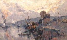 Robert Antoine Pinchon - Seine au Val de la Haye (1910)