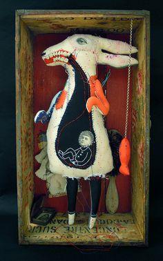 "Cecile Perra ~ I love art that makes you say, ""Whatthehell? Art Bizarre, Weird Art, Toy Art, Art Altéré, Illustration Arte, Drawn Art, Photocollage, Assemblage Art, Outsider Art"