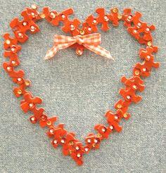 Jigsaw Puzzle Heart Valentines Craft