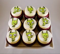 Gir from Invader Zim Cupcakes
