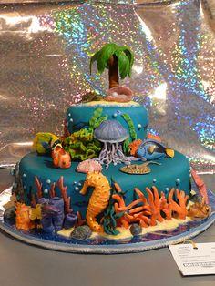 Underwater Cake - Front View by SlowMatsu.deviantart.com on @deviantART