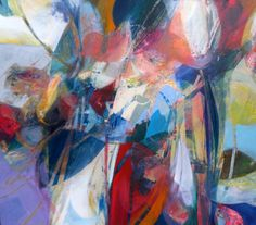 """AQUA FLORA"" acrylic on hardboard; by Ron Gordon"