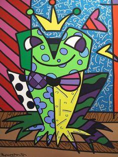 Prince Frog by Romero Britto
