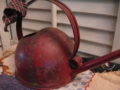 Vintage, Primitive Red Watering Can