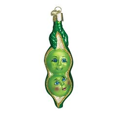 Old World Christmas Two Peas In A Pod Glass Blown Ornament >>> You can find more details by visiting the image link.