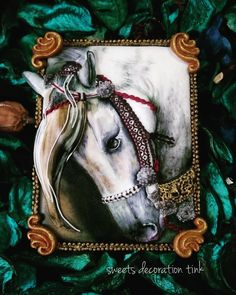 White Horse  By  SWEETS DECORATION TINK