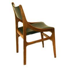 davintage VES14 H Vestervig Eriksen style dining chair teak 1960s a
