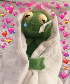 kermit the frog with hearts Frog Wallpaper, Wallpaper Iphone Cute, Aesthetic Iphone Wallpaper, Cartoon Wallpaper, Disney Wallpaper, Cute Wallpapers, Sapo Meme, Memes Lindos, Laughing Funny