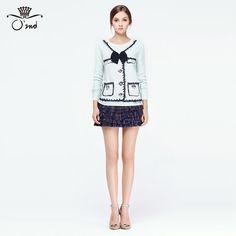 奥蔻O'2ND官方旗舰店新品女装时尚学院风格子印花蛋糕半身短裙子-tmall.com天猫