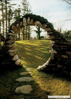 This is so neat. I'd love to have something like this as part of a garden. Done on a tiny scale, it could be for a faerie or gnome.