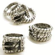 rhinestone western buckle ring from Ropes & Rhinestones