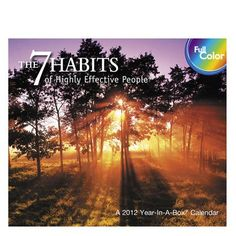 Buy 7 Habits Of Highly Effective People 2013 Boxed Calendar online at Megacalendars The 7 Habits of Highly Effective People Desk Calendar Paired with uplifting, full color photography, daily effective excerpts from Stephen Covey s award winning book will inspire and guide