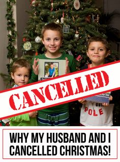 Why My Husband and I Cancelled Christmas - come see how Lisa is helping teach her kids the true meaning of Christmas! Christmas Nativity, 12 Days Of Christmas, A Christmas Story, Winter Christmas, Winter Holidays, Merry Christmas, Xmas, Holiday Crafts, Holiday Fun